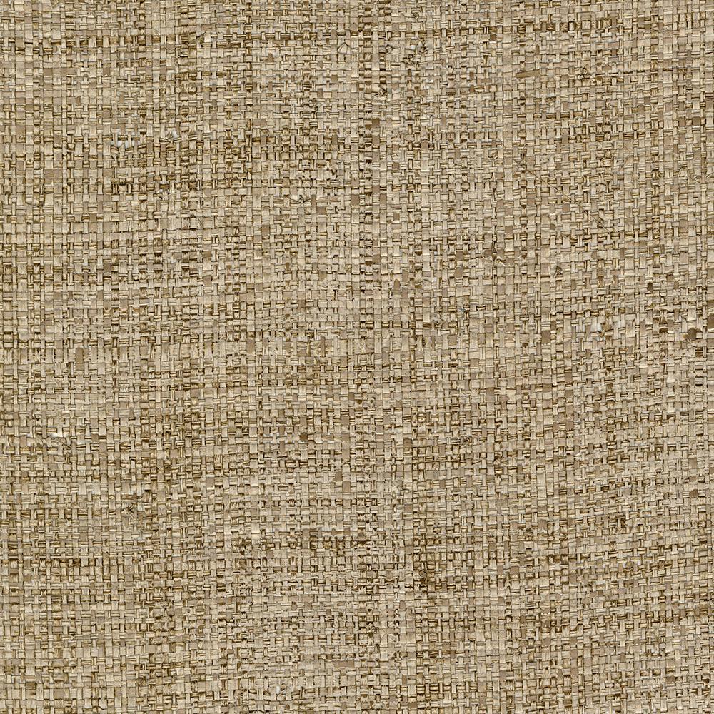 72 sq. ft. Mindoro Brown Grass Cloth Wallpaper