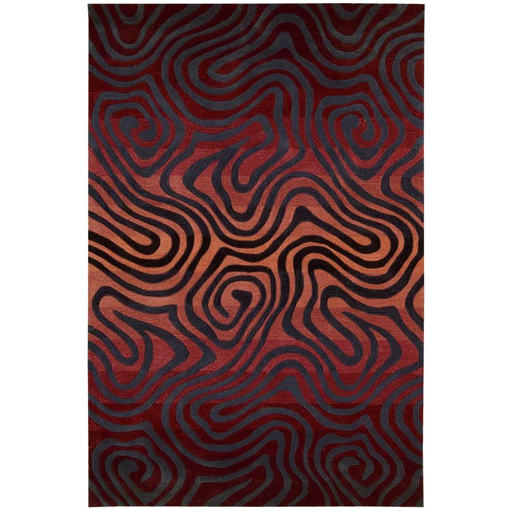 Contour Sangria 8 ft. x 10 ft. 6 in. Area Rug