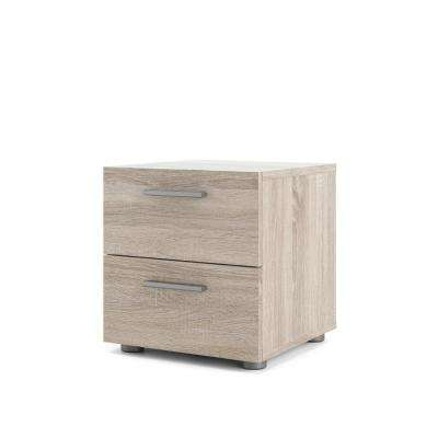 Austin 2-Drawer Truffle Nightstand