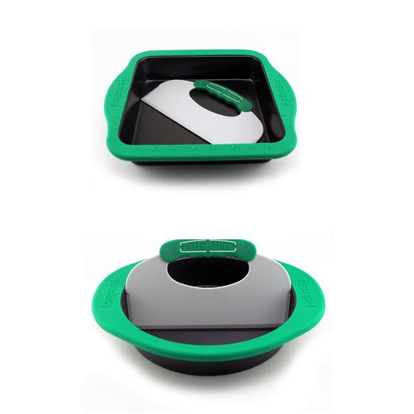 PerfectSlice 4-Piece Bakeware Set with Silicone Sleeve