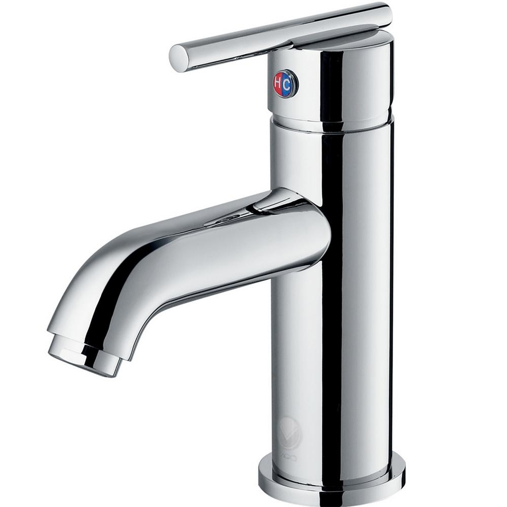 VIGO Setai Single Hole 1-Handle Mid-Arc Bathroom Faucet in Chrome