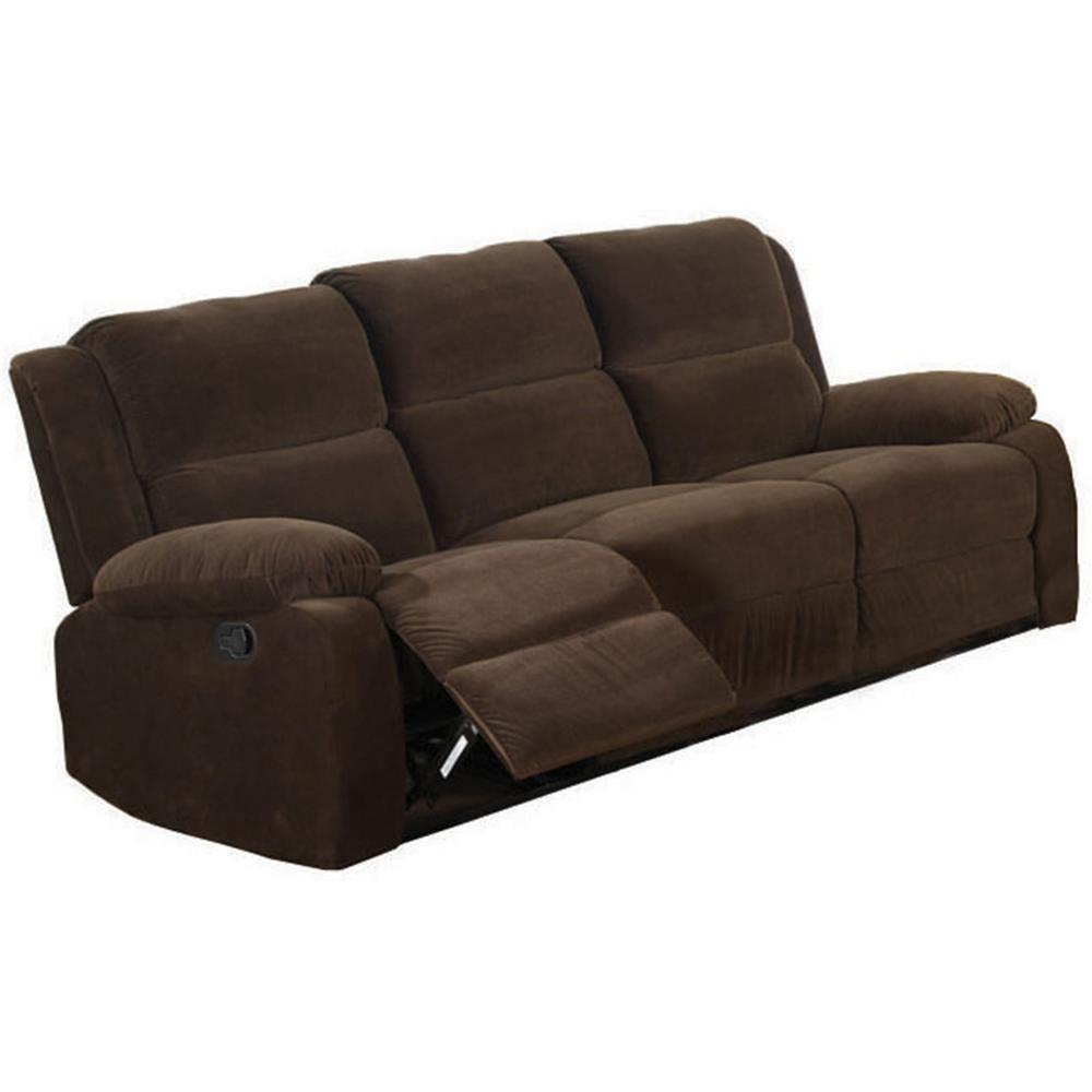 Furniture of america haven dark brown flannelette sofa for Furniture of america customer service
