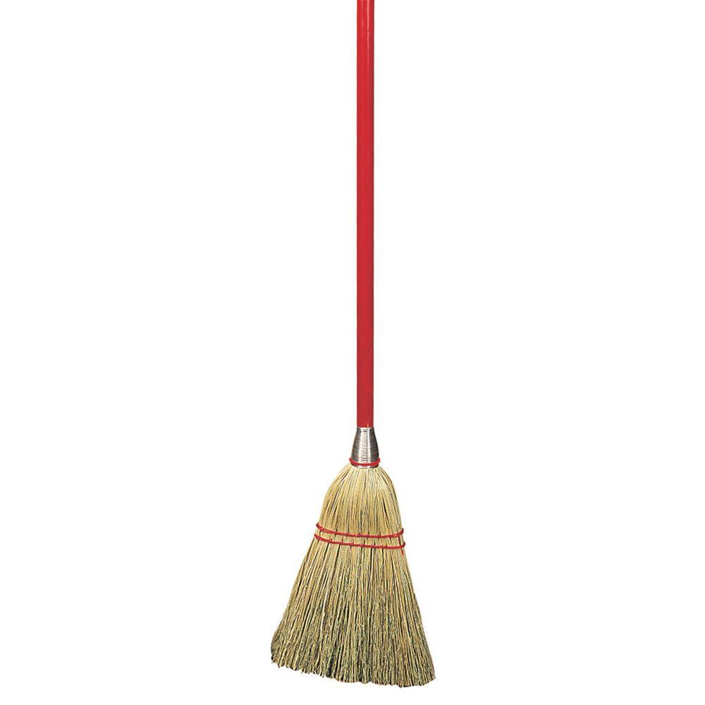 carlisle 34 in corn lobby broom case of 12 368100 the home depot
