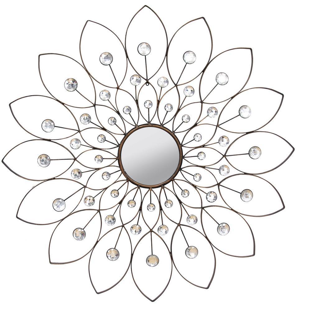Decorative Flower Mirror
