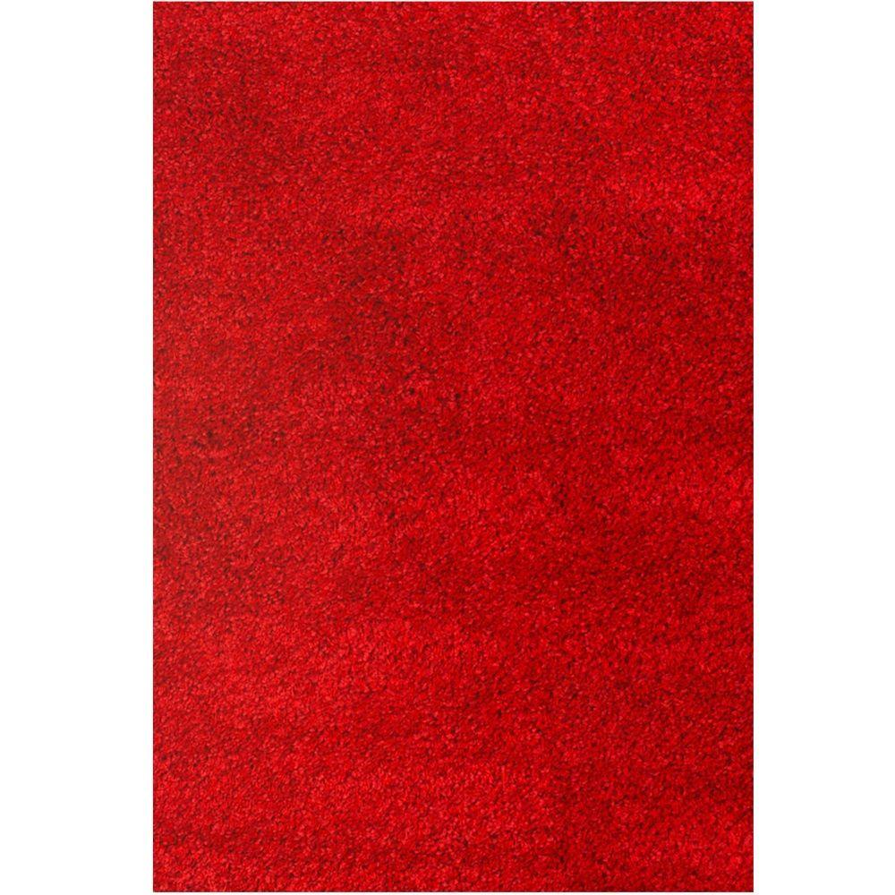 Comfort Shag Red 5 ft. 3 in. x 7 ft. 6
