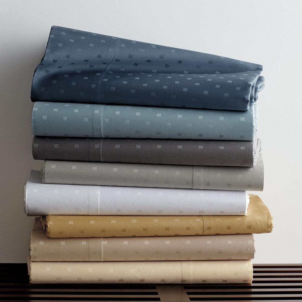 Legends Luxury Dot Cobblestone 500-Thread Count Cotton Sateen King Pillowcase (Set of 2)