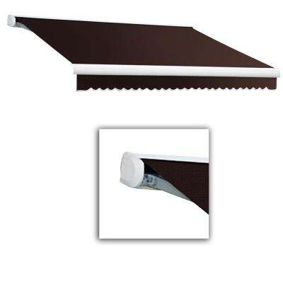 14 ft. Key West Full Cassette Left Motorized Retractable Awning (120 in. Projection) Brown