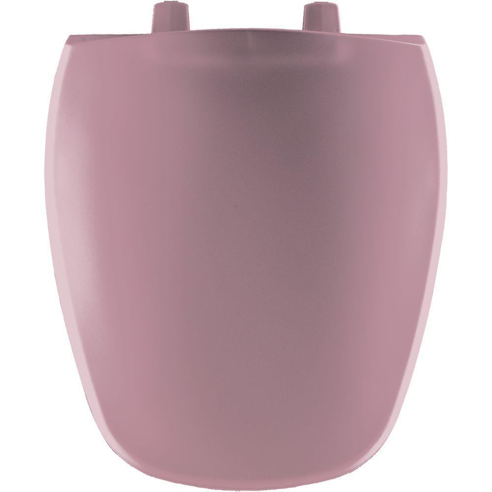 Bemis Round Closed Front Toilet Seat In Dusty Rose 124