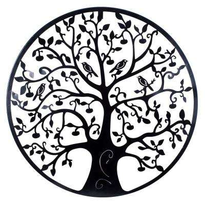 24 in. Dia Tree of Life Metal Wall Outdoor Decor