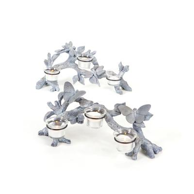14 in. Garden Getaway Butterfly and Dragonfly Votive Candle Holders (Set of 2)