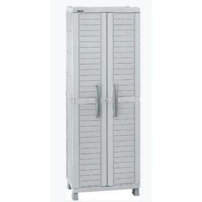 71.7 in. H x 25.6 in. W x 17.7 in. D Large Storage Cabinet in Light Gray