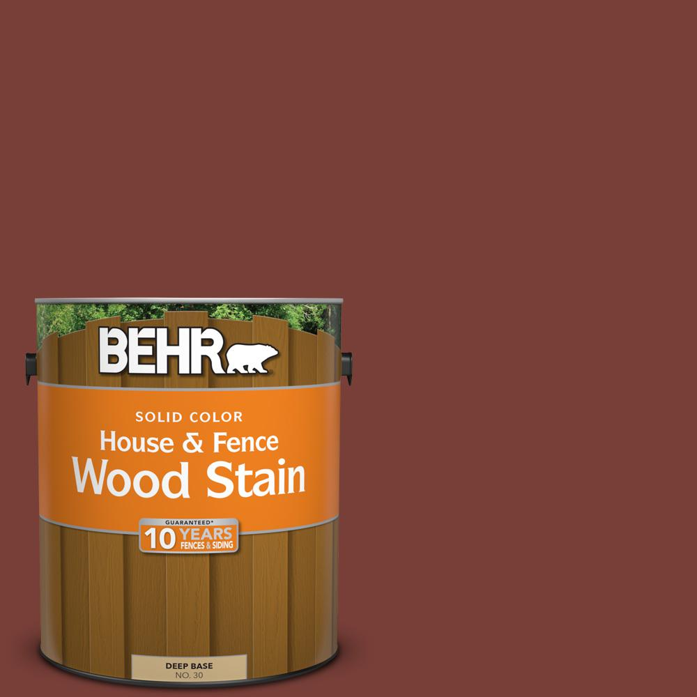 1 gal. #PPU2-2 Red Pepper Solid House and Fence Wood Stain