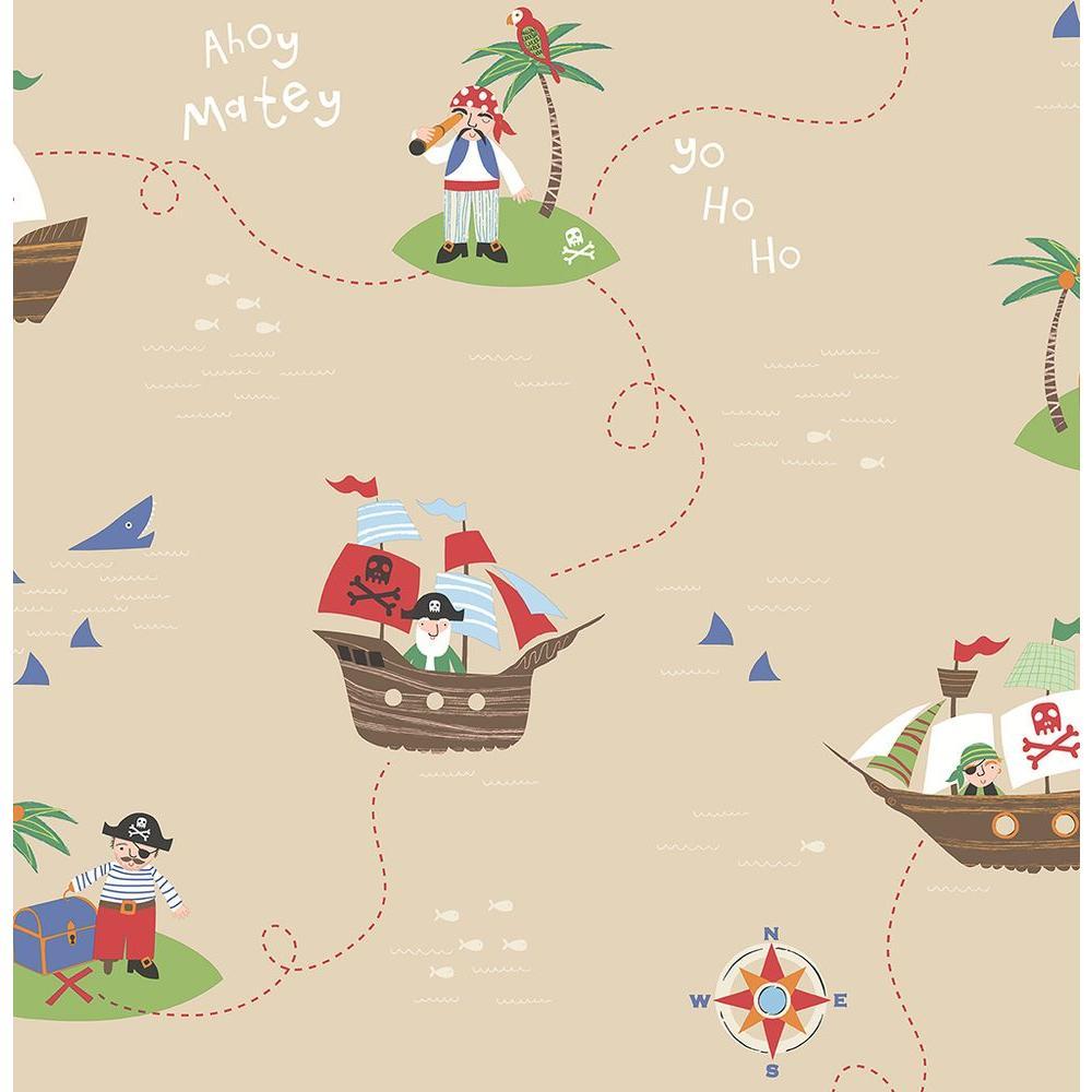 Sand Funny Pirates Wallpaper