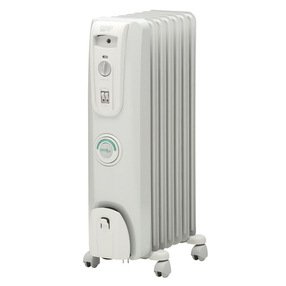 Radiant Bathroom Heaters: DeLonghi Comfort Temp Oil-Filled Radiant Portable Heater