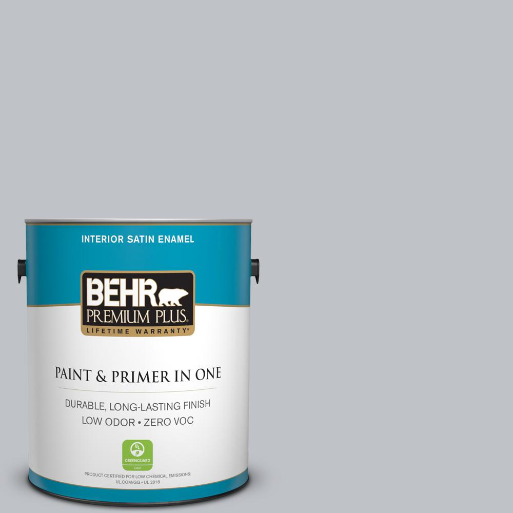 BEHR Premium Plus 1-gal. #N510-2 Galactic Tint Satin Enamel Interior Paint