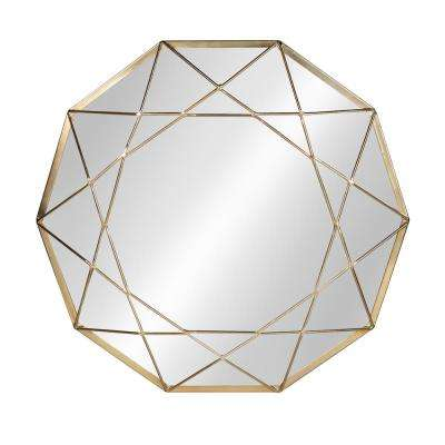 Keyleigh Metal Accent Wall Mirror Other Gold