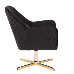 Prime Lumisource Diana Black Velvet And Gold Metal Lounge Chair Evergreenethics Interior Chair Design Evergreenethicsorg