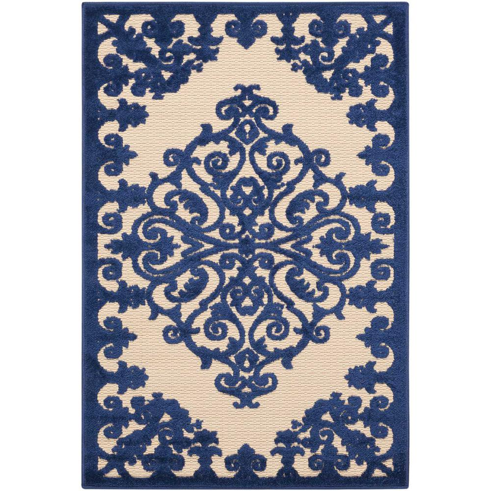 Aloha Navy 3 ft. x 4 ft. Indoor/Outdoor Area Rug