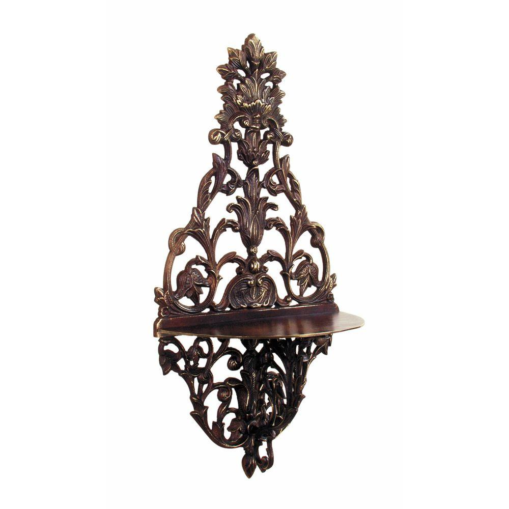 Antique Reproductions 20 in. Ornate Bronze Wall Shelf