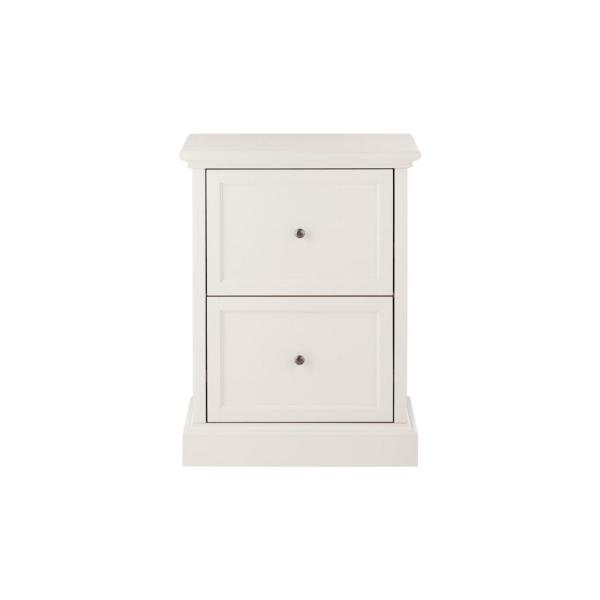 Home Decorators Collection Royce Polar, White Wood File Cabinet