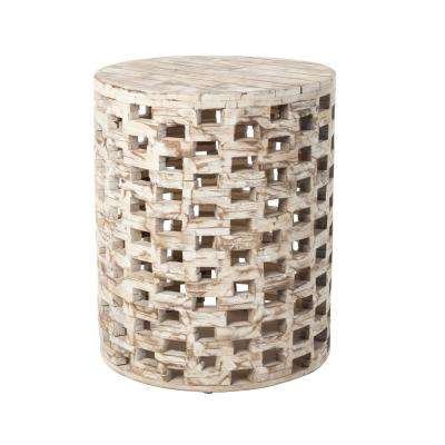 Parker Unfinished Wood Garden Stool