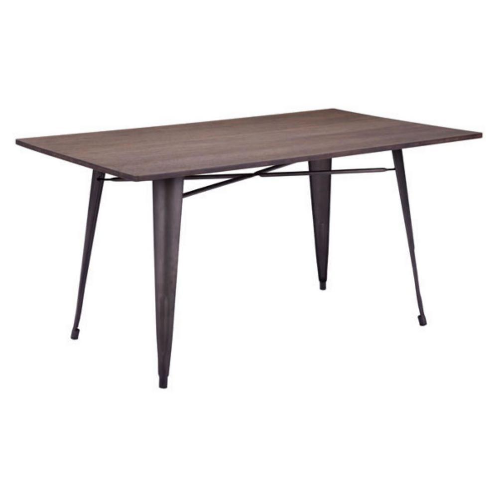 Julia 30.3 in. Dining Table Rustic Wood - Bamboo Steel