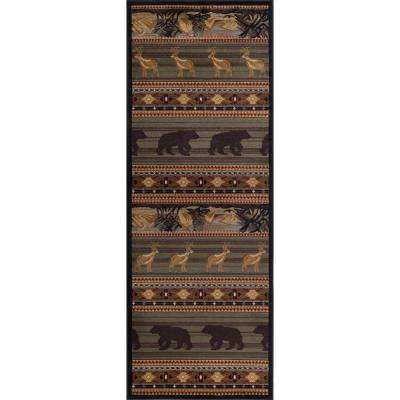 Nature Green 3 ft. x 7 ft. Lodge Runner Rug