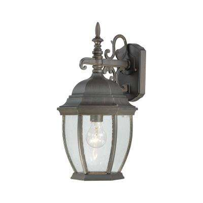 Covington 1-Light Painted Bronze Outdoor Wall Mount Lantern