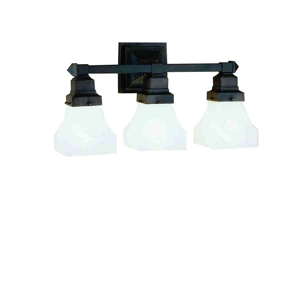 Illumine 3 Bungalow White Alabaster Wall Sconce