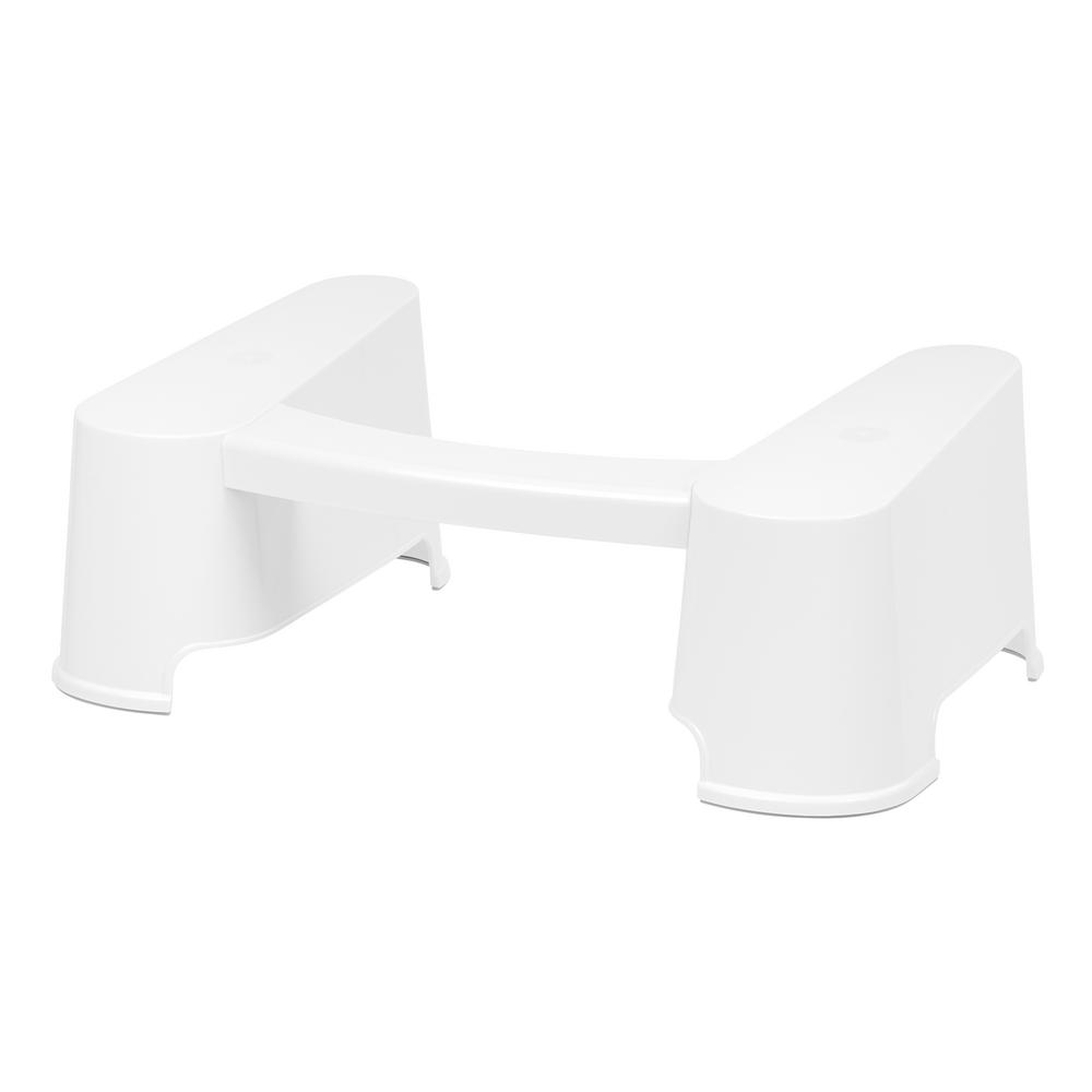 7 in. Plastic Toilet Stool in White