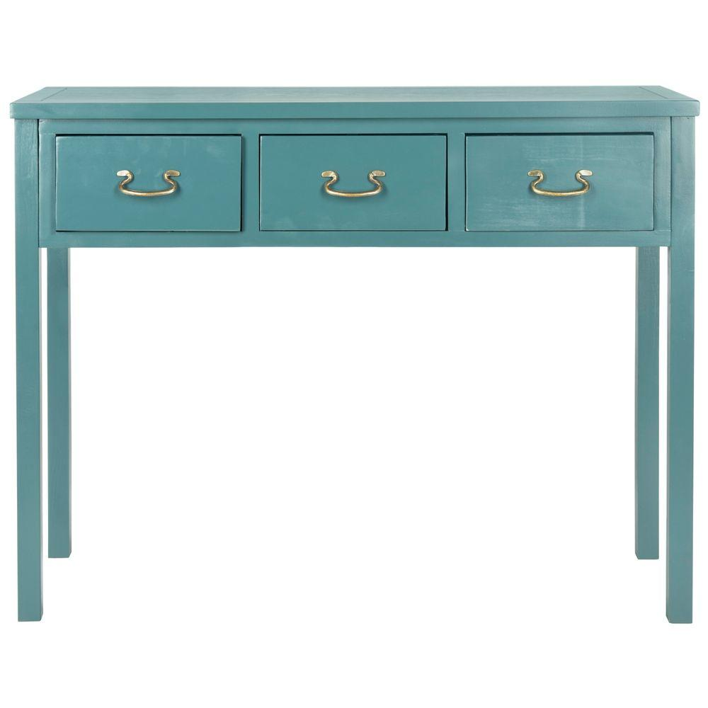 Safavieh Cindy Slate Teal Storage Console Table
