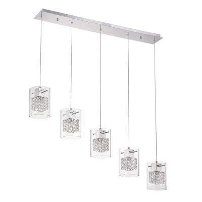 Politan Series 5-Light Chrome Pendant Bar