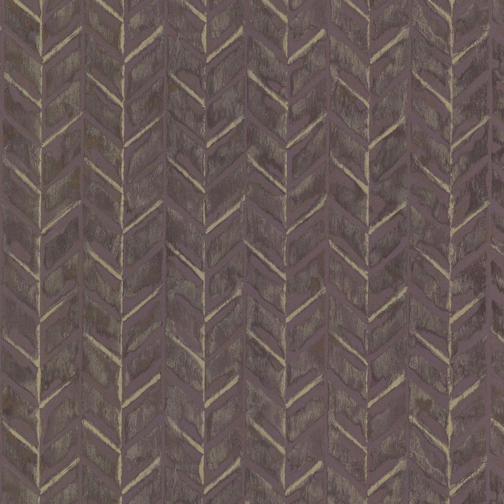 Purple Foothills Herringbone Texture Wallpaper Sample