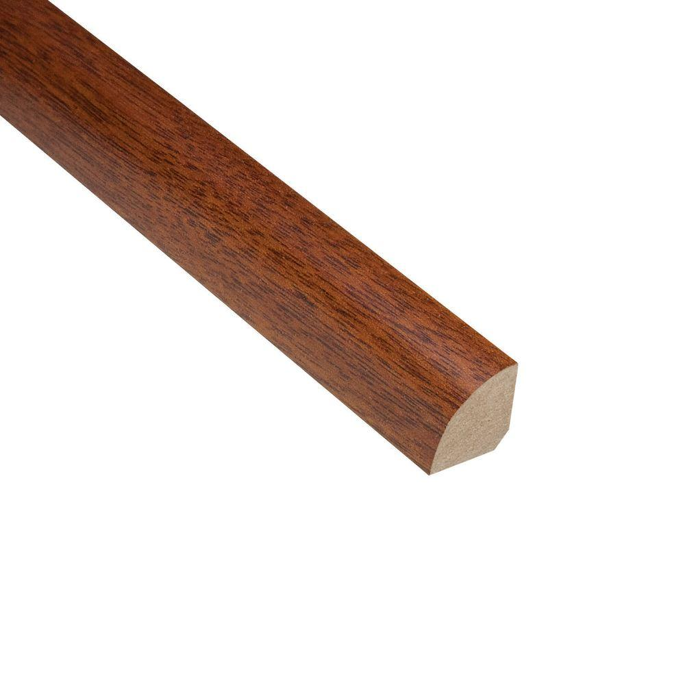 Home Legend Mahogany Natural 3/4 in. Thick x 3/4 in. Wide x 94 in. Length Hardwood Quarter Round Molding