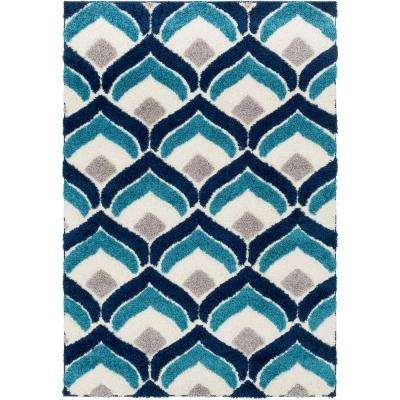 Page Navy 7 ft. 10 in. x 10 ft. 3 in. Area Rug