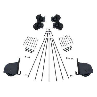 Black Contemporary Rolling Ladder Hardware Kit for 20 in. W Ladders