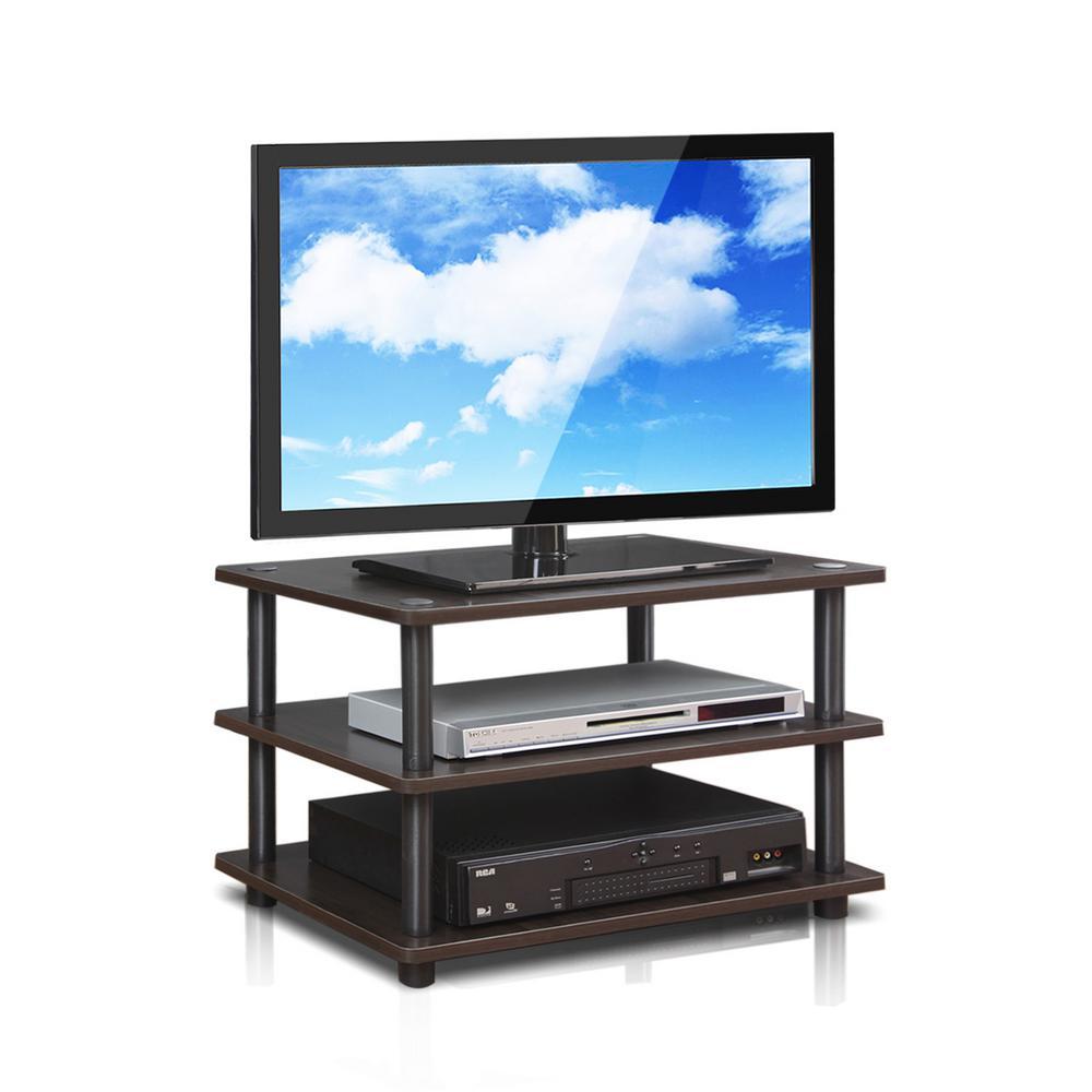 Turn-N-Tube Espresso 3-Shelf TV Stand