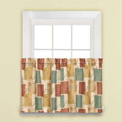 Tranquility 6.95 in. W x 24 in. L Polyester Tier Pair in Spice