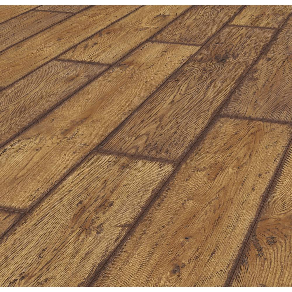 Lifeproof Rustic Brown Oak 12 Mm Thick X 8 03 In Wide X