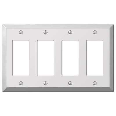 Steel 4 Decora Wall Plate - Chrome