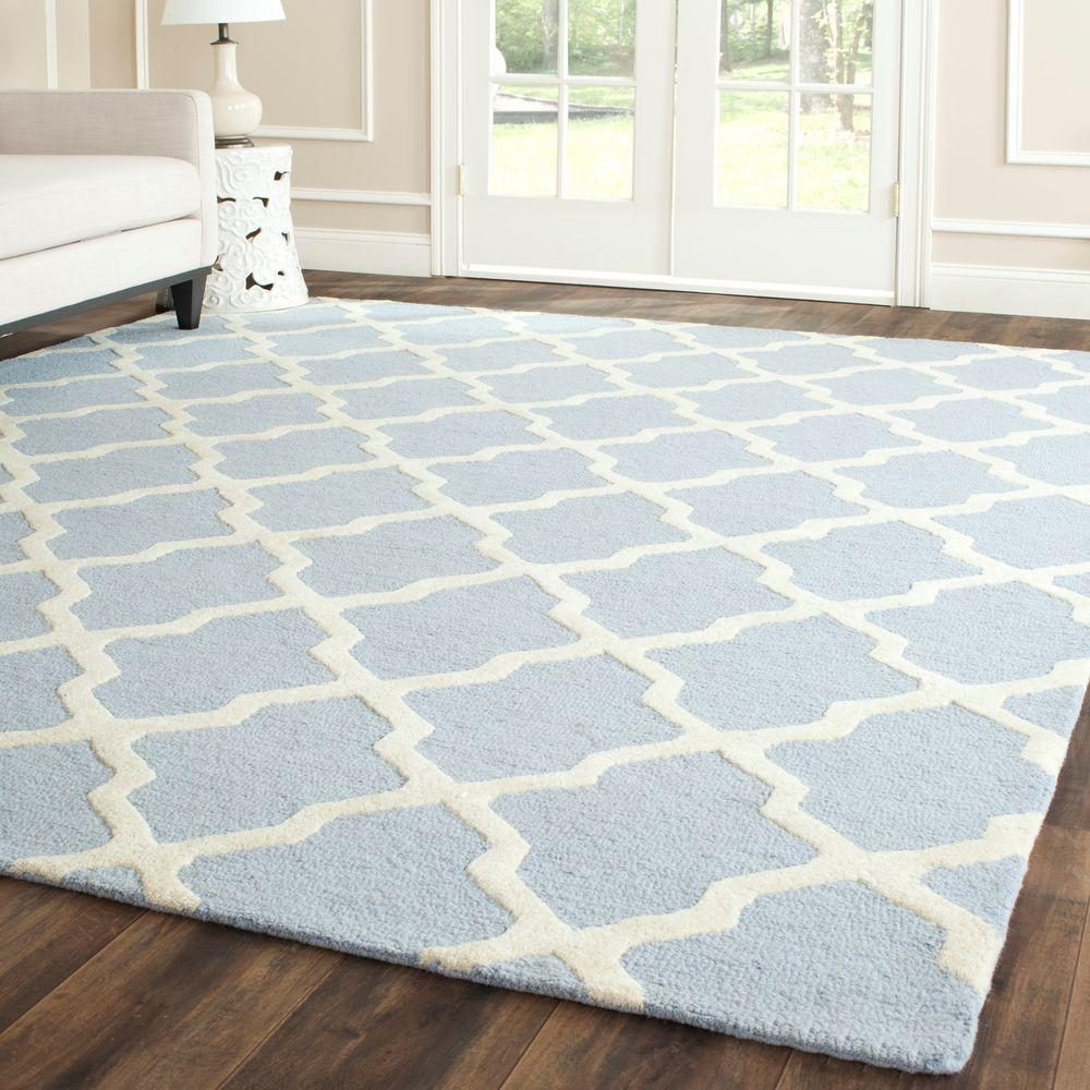 Safavieh Cambridge Light Blue/Ivory 6 ft. x 6 ft. Square Area Rug