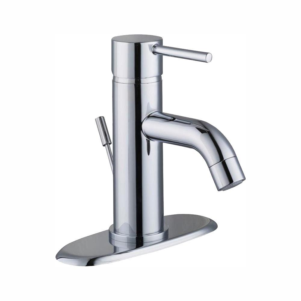 Glacier Bay Modern Single Hole Single-Handle Low-Arc Bathroom Faucet in Chrome