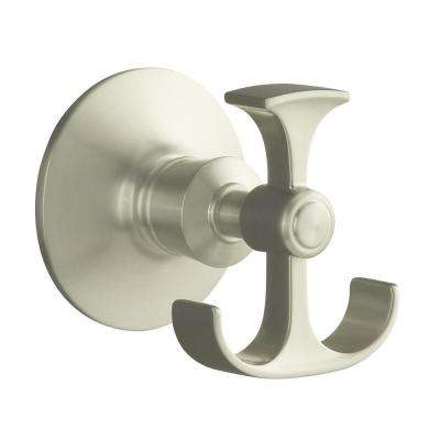 Archer Double Robe Hook in Vibrant Brushed Nickel