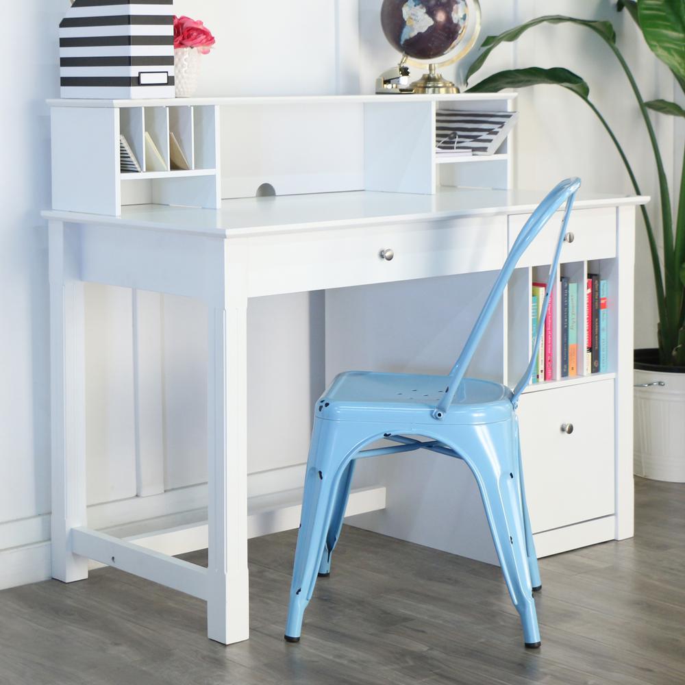 White Desk Hutch Clara