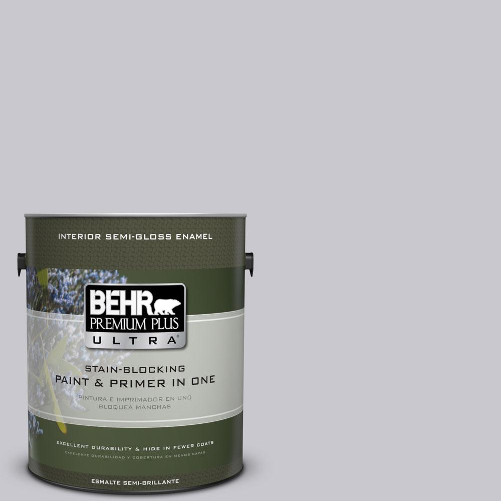 1-gal. #ECC-62-1 Urban Gray Semi-Gloss Enamel Interior Paint