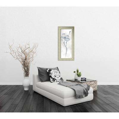 """19 in. W x 40 in. H """"Solitary Dogwood II Gray (Floral)"""" by Chris Paschke Framed Art Print"""