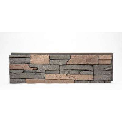 Stacked Stone Stratford 12 in. x 42 in. Faux Stone Siding Half Panel
