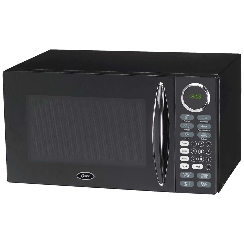Oster 0.9 cu. ft. Countertop Microwave Oven in Black-DISCONTINUED