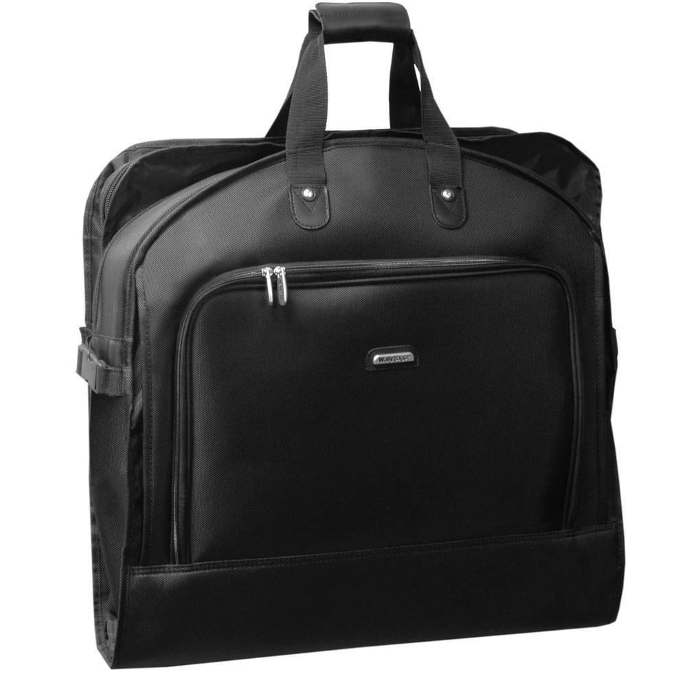 45 in. Framed Bi-Fold Garment Bag with Shoulder Strap and Multiple Accessory Pockets