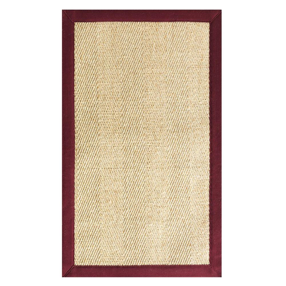 Home Decorators Collection Marblehead Burgundy 4 ft. x 6 ft. Area Rug